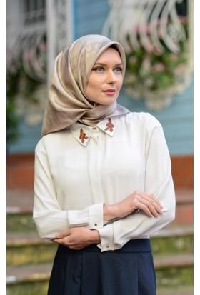 Abacı Kadın Beyaz Bluz - Blz10740-G21-40