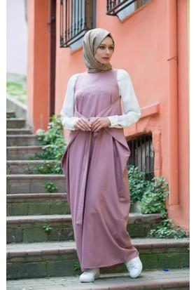 Abacı Kadın Mevsimlik Gül Kurusu Elbise El10169-G87-44
