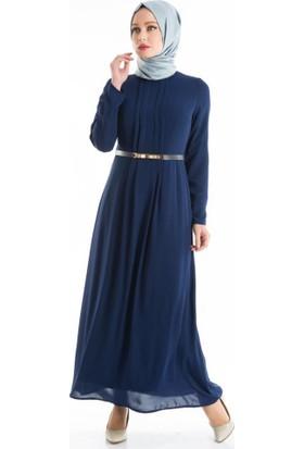 Abacı Kadın Lacivert Mevsimlik Elbise El10177-E32-44