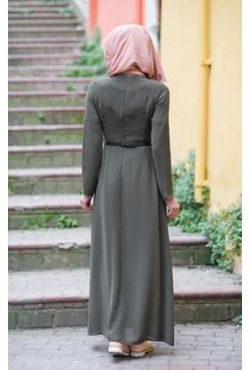 Abacı Kadın Haki Elbise El10177-F01-42