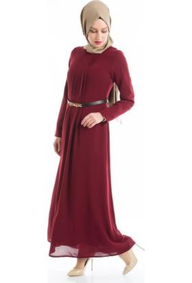 Abacı Kadın Bordo Mevsimlik Elbise El10177-F04-44