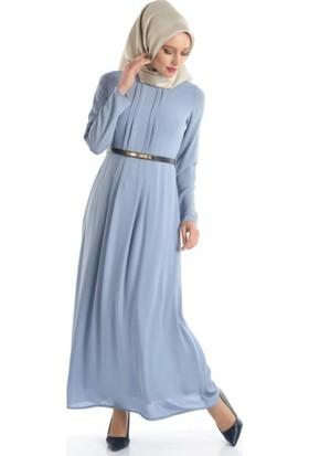 Abacı Kadın Mavi Elbise El10177-G19-44