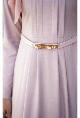 Abacı Kadın Pembe Astarsız Elbise El10177-P55-44