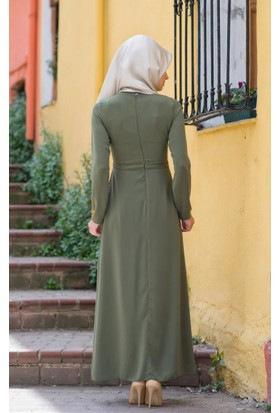 Abacı Kadın Mevsimlik Yeşil Elbise - El10492-J42-40
