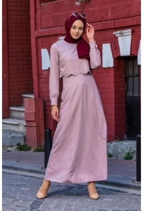 Abacı Kadın Pembe Elbise El12037-P55-42