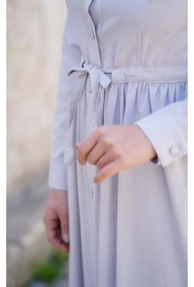 Abacı Kadın Gri Mevsimlik Elbise El12049-R48-40