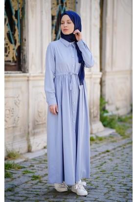 Abacı Kadın Buz Mavisi Elbise El12049-R59-36