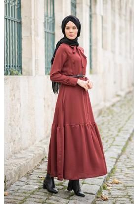 Abacı Kadın Taba Şifon Elbise Elb11189-N61-38