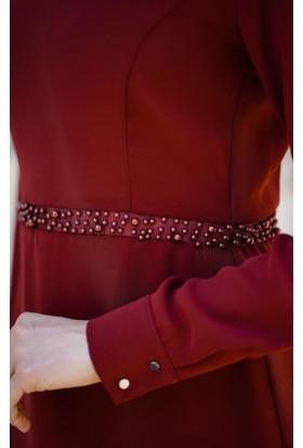 Abacı Kadın Kiremit Şifon Elbise Elb11384K-K17-42