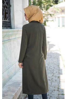 Abacı Kadın Mevsimlik Haki Yeşil Tunik K10377-J92-40