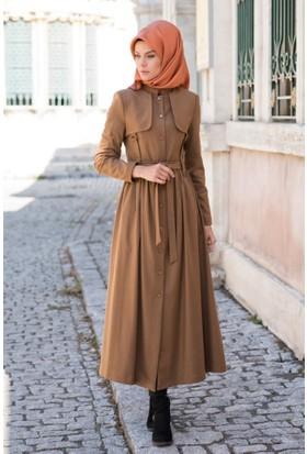 Abacı Kadın Taba - Camel Kaşe Pardesü P10368K-M22-40