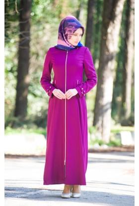 Abacı Kadın Mevsimlik Mor Pardesü - P9363-923-46