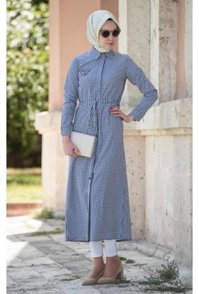 Abacı Kadın Mevsimlik Kareli Gömlek Elbise Tnk10736-K52-44