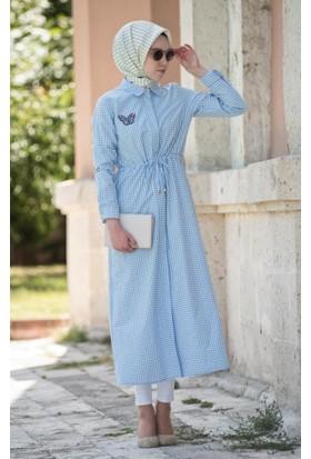 Abacı Kadın Mevsimlik Kareli Gömlek Elbise Tnk10736-K53-44