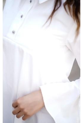 Abacı Kadın Kırık Beyaz Tunik Tnk11336-R52-42