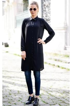 Abacı Kadın Siyah Şifon Tunik Tnk11436-G22-44