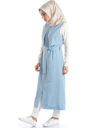 Abacı Kadın Mevsimlik Buz Mavisi Yelek Y10219-G72-42