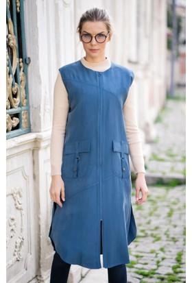 Abacı Kadın Mavi Yelek Ylk10947-K14-44
