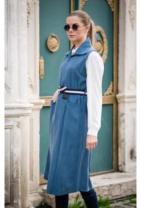 Abacı Kadın Mavi Kışlık Yelek Ylk11171-K14-40