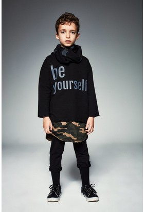 Monokido Bold-Be Yourself Sweatshirt Siyah