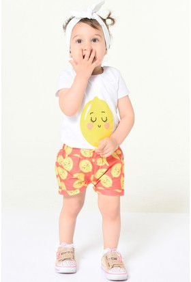 Colorinas Babys Lemon T-Shirt Beyaz