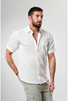 Eliş Şile Bezi Erkek Kısa Kol Gömlek