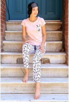 Eka Ayıcık Baskılı Pijama Takım