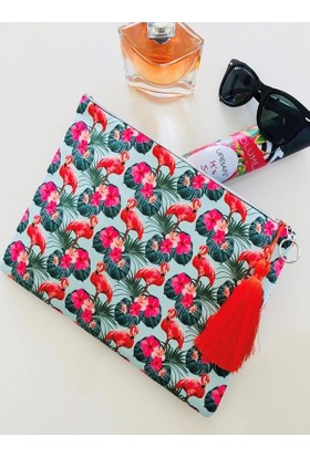 Hob's Flamingo Clutch Çanta
