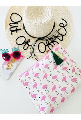 Hob's Flamingo Clutch Çanta