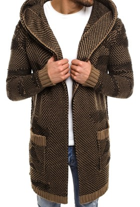 Madmext Kapüşonlu Kahverengi Hırka 2150
