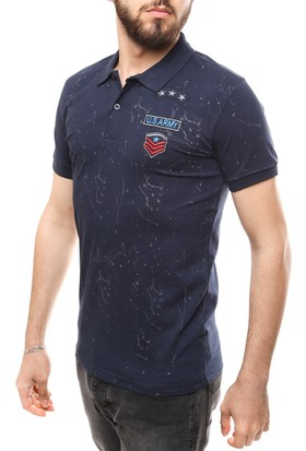 Madmext Desenli Polo T-Shirt 1867