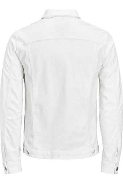Jack & Jones 12136319 Jjialvın Jjjacket Akm 528 Sts Blanc De Blanc