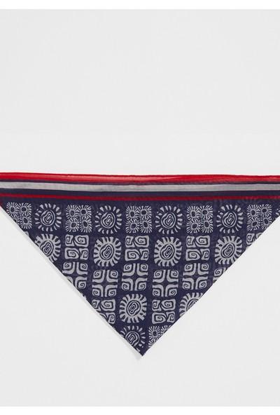 Mavi Desenli Lacivert Bandana 196137-26828