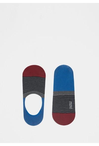 Mavi Erkek Gri Çorap