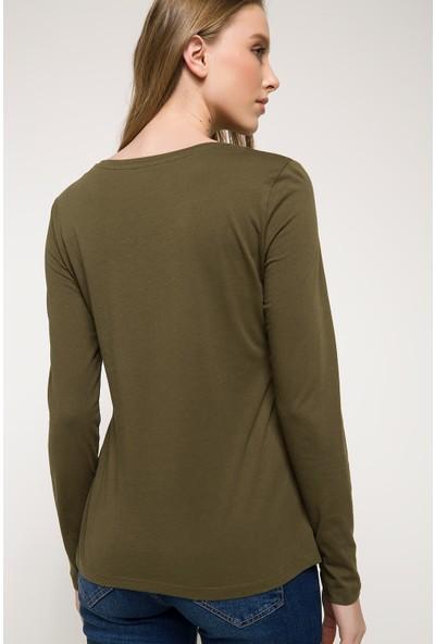 Defacto Baskılı Uzun Kollu T-Shirt