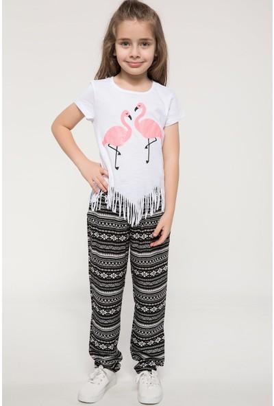 Defacto Etnik Desenli Bağcık Detaylı Pantolon