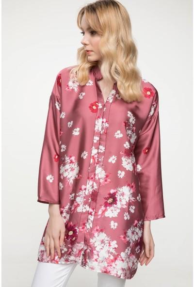 Defacto Çiçek Desenli Gömlek Tunik