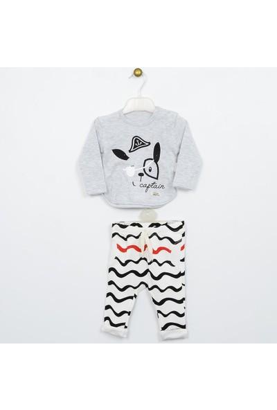 Wogi Erkek Bebek T-Shirt Pantolon 2'li Takım 0-12 Ay 7420