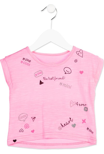 Losan Kız Çocuk Kısa Kollu T-Shirt