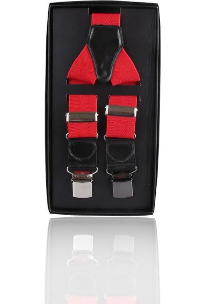 La Pescara Kırmızı Düz Pantolon Askısı Pan07