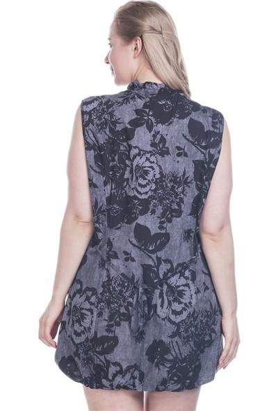 Myline Çiçekli Desenli Kolsuz Elbise