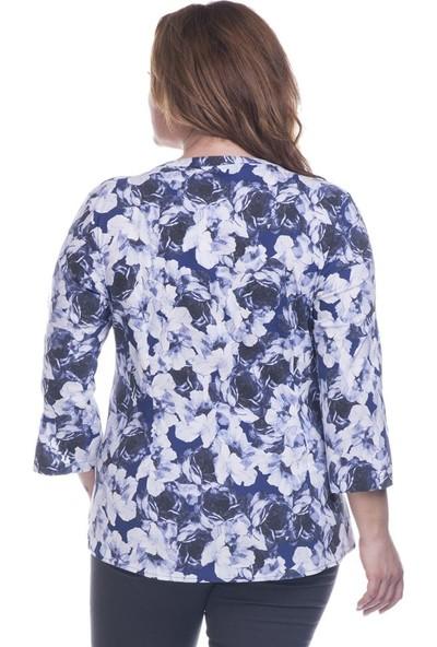 Myline 3/4 Kollu Streç Bluz