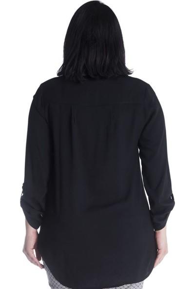 Myline Uzun Kollu Viskon Bluz