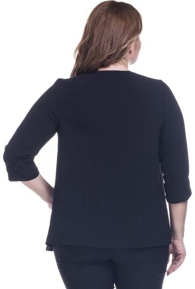 Myline Kuzgözü Detaylı Krep Ceket