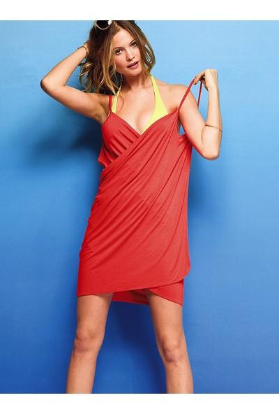 Mite Love Kadın Plaj Elbisesi Kırmızı Kısa Pareo