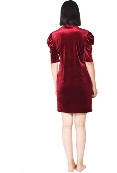 Kavshak Kadife Elbise