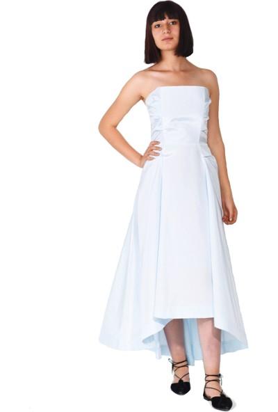 Kavshak Drapeli Straplez Elbise