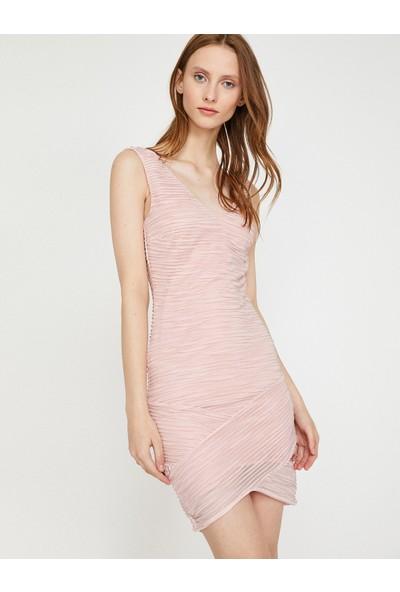 Koton Büzgülü Elbise
