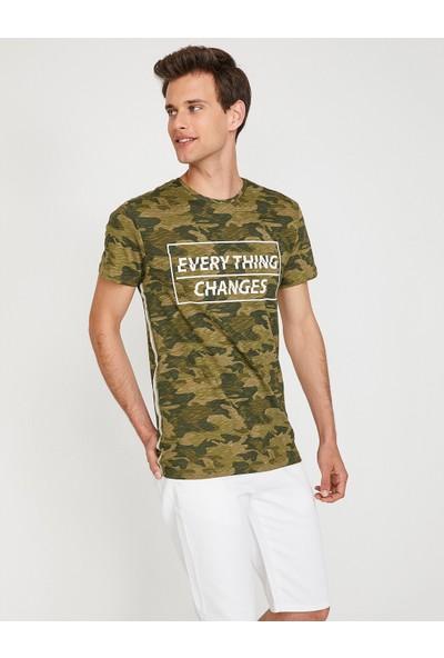 Koton Kmuflaj Desenli T-Shirt