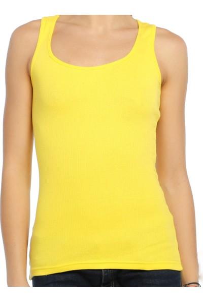 Darkzone Sporcu Kadın Sarı Atlet Byn7009